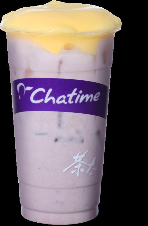Thé au lait Taro et Pudding